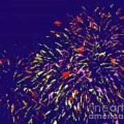 Fireworks Poster by Elizabeth Blair-Nussbaum