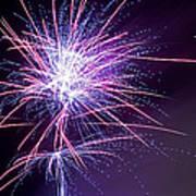 Fireworks - Purple Haze Poster by Scott Lyons