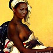 First Lady Poster by Karine Percheron-Daniels