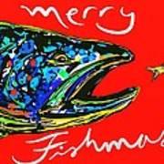 Fishmas Trout Poster by Owl Jones