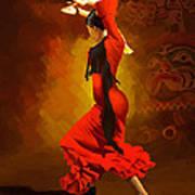 Flamenco Dancer 0013 Poster by Catf