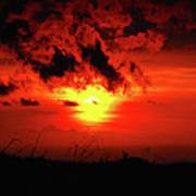 Flaming Sunset Poster by Christi Kraft