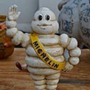 Flea Market Michelin Man Poster by Helene Dignard