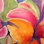 Floating Petals Poster by Karen Carmean