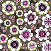 Floral Grunge Poster by Lisa Noneman
