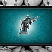 Florida Marlins Poster by Joe Hamilton
