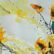 Flower Power- Sunflower Poster by Ismeta Gruenwald