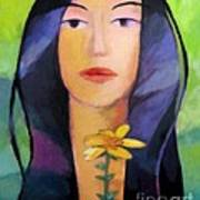 Flower Woman Poster by Lutz Baar