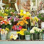 Flowers At The Bi-rite Market In San Francisco  Poster by Artist and Photographer Laura Wrede
