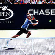 Flying Federer  Poster by Nishanth Gopinathan