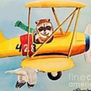 Flying Friends Poster by LeAnne Sowa
