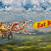 Flying Pigs - Plane - Eat Beef Poster by Mike Savad