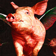 Flying Pigs V2 Poster by Wingsdomain Art and Photography