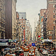 Foggy Day In The City Poster by Kathy Jennings
