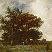 Fontainebleau Oak Poster by Jules Dupre