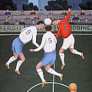Football Poster by Jerzy Marek