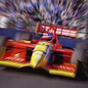 Formula Racing Car At Speed Poster by Don Hammond