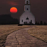 Fort Belmont Sunset Poster by Aaron J Groen