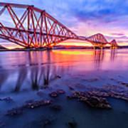 Forth Rail Bridge Stunning Sunrise Poster by John Farnan