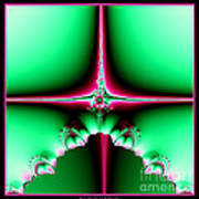 Fractal 14 Star Of Bethlehem  Poster by Rose Santuci-Sofranko