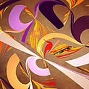 Fractal - Abstract - Space Time Poster by Mike Savad