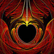 Fractal - Heart - Victorian Love Poster by Mike Savad
