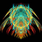 Fractal - Insect - I Found It In My Cereal Poster by Mike Savad