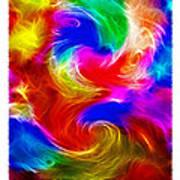 Fractal Turbulence Poster by Steve Ohlsen