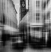 Frauenkirche - Muenchen V - Bw Poster by Hannes Cmarits