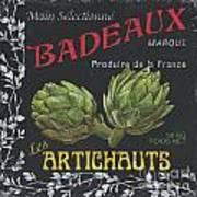 French Veggie Labels 1 Poster by Debbie DeWitt