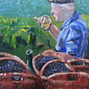 French Vineyard Worker Poster by Kendal Greer