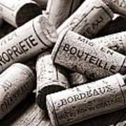French Wine Corks Poster by Olivier Le Queinec