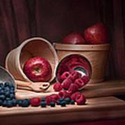 Fresh Fruits Still Life Poster by Tom Mc Nemar