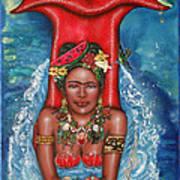Frida Makes A Splash Poster by Ilene Satala