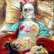 Frida Viva La Vida Poster by Heather Calderon