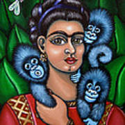 Fridas Triplets Poster by Victoria De Almeida