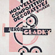 Front Cover Of Nouvelles Compositions Decoratives Poster by Serge Gladky