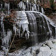 Frozen Buttermilk Falls Poster by Anthony Thomas
