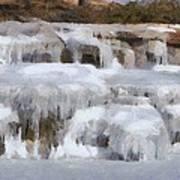 Frozen Falls Poster by Jeff Kolker