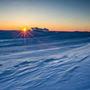 Frozen Lake Minnewaska Poster by Aaron J Groen