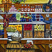 Fruit And Vegetable Market By Alison Tave Poster by Sheldon Kralstein