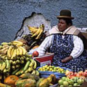 Fruit Seller Poster by James Brunker
