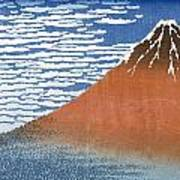 Fuji Mountains In Clear Weather Poster by Hokusai