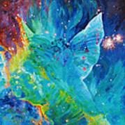 Galactic Angel Poster by Julie Turner