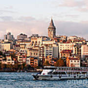 Galata Skyline 03 Poster by Rick Piper Photography