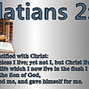 Galatians 2 20 Poster by Ricky Jarnagin
