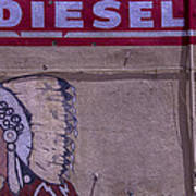 Gas Station Indian Chief Poster by Garry Gay