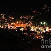 Gatlinburg At Night Poster by Nancy Mueller