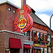 Gatlinburg Hard Rock Cafe Poster by Frozen in Time Fine Art Photography