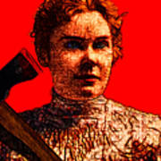 Gave Her Father Forty Whacks - Red Poster by Wingsdomain Art and Photography